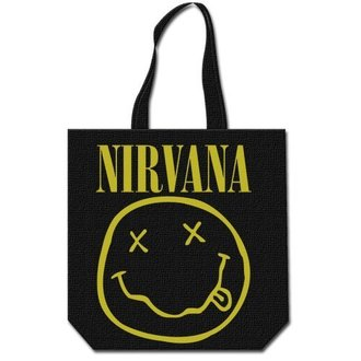 borsa Nirvana - Smiley & Logo - ROCK OFF, ROCK OFF, Nirvana