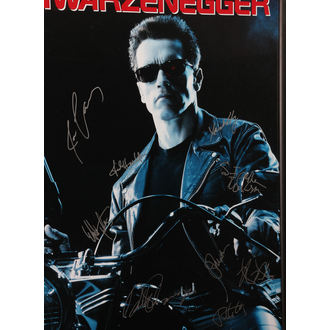 poster con firme Terminator 2, ANTIQUITIES CALIFORNIA