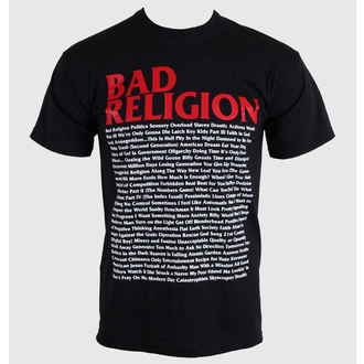 t-shirt metal uomo Bad Religion - Song List - KINGS ROAD, KINGS ROAD, Bad Religion
