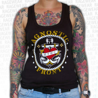 top donna Agnostic Front - Anchor - Nero - RAGEWEAR, RAGEWEAR, Agnostic Front