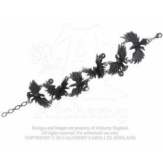 bracciale Floccaggio Ravens - ALCHEMY GOTHIC, ALCHEMY GOTHIC