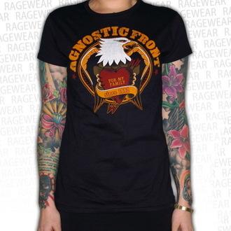 t-shirt metal donna unisex Agnostic Front - Old School Heart - RAGEWEAR, RAGEWEAR, Agnostic Front