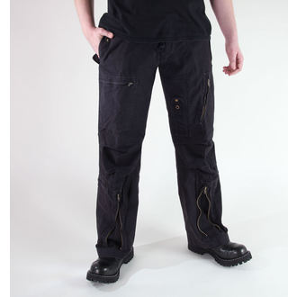 pantaloni uomo MIL-TEC - Fliegerhose - Prewash Nero, MIL-TEC