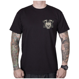 t-shirt street uomo - CHOPPER SKULL - BLACK HEART, BLACK HEART