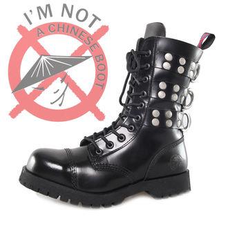 scarpe NEVERMIND - 10 fori - Rivetti Nero, NEVERMIND