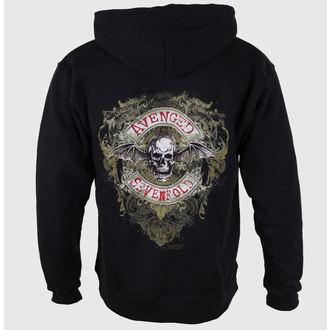 felpa con capuccio uomo Avenged Sevenfold - Flourish Zip - ROCK OFF, ROCK OFF, Avenged Sevenfold