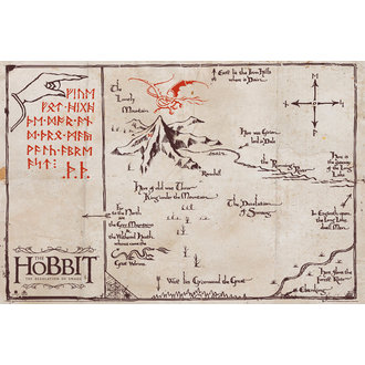 poster Lo Hobbit - Montagna Map - GB posters, GB posters