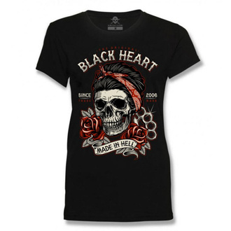 t-shirt street donna - JENY - BLACK HEART, BLACK HEART