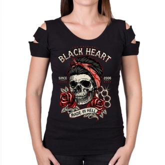 t-shirt street donna - JENY DESTROY - BLACK HEART, BLACK HEART
