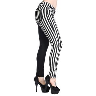 pantaloni BANNED - Striped Pantaloni - Mezzo Nero/Metà White