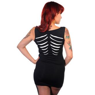 vestito donna (tunic) BANNED - Glow In The Buio Skeleton - Nero