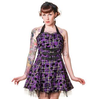 vestito donna BANNED - Purple Tartan, BANNED