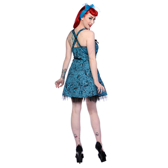 vestito donna BANNED - Blu Skull Roses, BANNED