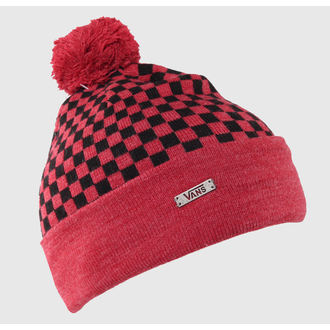 beanie VANS - Scacchiera Pom P - Heather Red, VANS