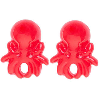 orecchini SOURPUSS - Polpo - Red, SOURPUSS