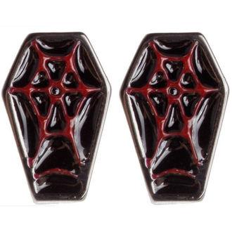 orecchini SOURPUSS - Coffin - Nero/Rosso, SOURPUSS