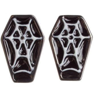 orecchini SOURPUSS - Coffin - Nero/Bianco, SOURPUSS