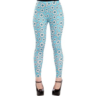 pantaloni (leggings) donna SOURPUSS - Ottico Illusione - Aqua, SOURPUSS