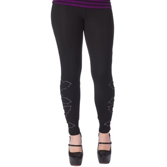 pantaloni (leggings) donna SOURPUSS - The Bats - Nero, SOURPUSS