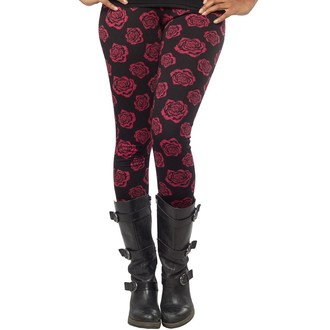 pantaloni (leggings) donna SOURPUSS - Omni Roses - Nero, SOURPUSS