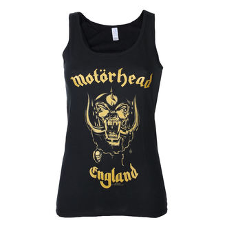 top donna Motörhead - England Gold - Nero - ROCK OFF - MHEADVT01LB