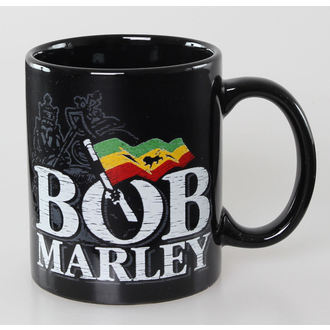 tazza Bob Marley - Distressed Logo - Nero - ROCK OFF, ROCK OFF, Bob Marley