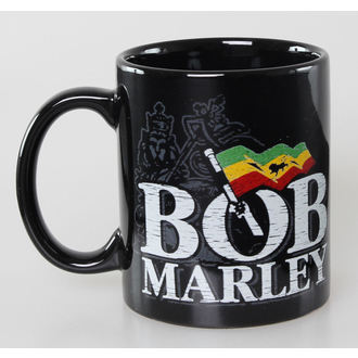 tazza Bob Marley - Distressed Logo - Nero - ROCK OFF, ROCK OFF, Bob Marley