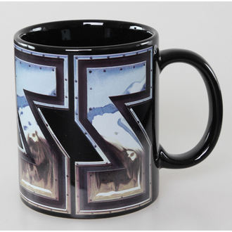 tazza Kiss - Chrome Logo - Nero ROCK OFF, ROCK OFF, Kiss