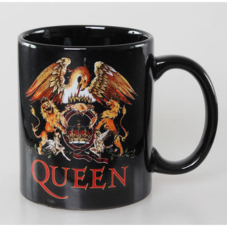 tazza Queen - Classic Crest - Nero - ROCK OFF, ROCK OFF, Queen