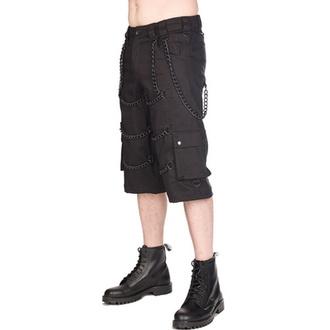 Pantaloncini da uomo BLACK PISTOL - Chain - Denim Nero, BLACK PISTOL