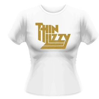 t-shirt metal donna Thin Lizzy - Gold Sparkle Logo - PLASTIC HEAD, PLASTIC HEAD, Thin Lizzy