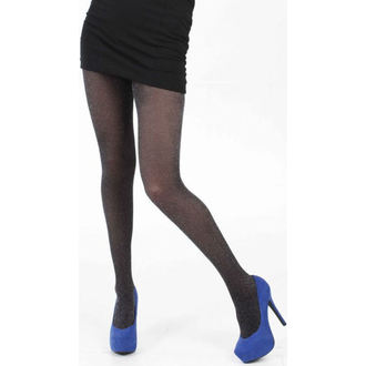 collant PAMELA MANN - Lurex Fine Net Tights - Nero/Argento, PAMELA MANN