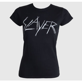 t-shirt metal donna Slayer - Scratchy Logo - ROCK OFF, ROCK OFF, Slayer