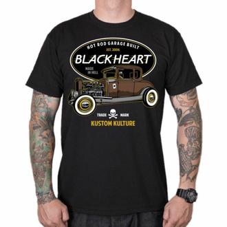 Maglietta da uomo BLACK HEART - HOT ROD TRADITIONAL - NERO, BLACK HEART