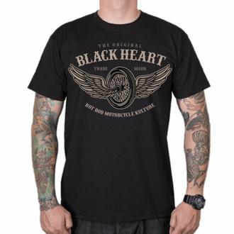 Maglietta da uomo BLACK HEART - WINGS - NERO, BLACK HEART