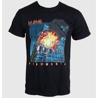t-shirt metal uomo Def Leppard - PYROMANIA - LIVE NATION, LIVE NATION, Def Leppard