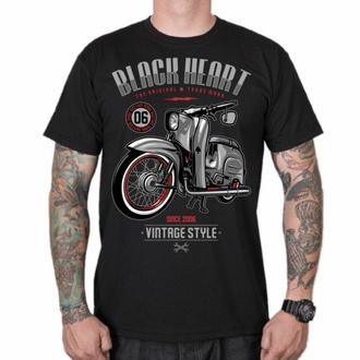 Maglietta da uomo BLACK HEART - VINTAGE STYLE - NERO, BLACK HEART