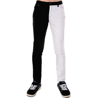 pantaloni uomo 3RDAND56th - Split Leg Skinny - Blk/Wht, 3RDAND56th