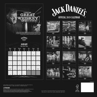 Calendario per anno 2019 JACK DANIELS, JACK DANIELS