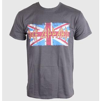t-shirt metal uomo Def Leppard - Union Jack - LIVE NATION, LIVE NATION, Def Leppard