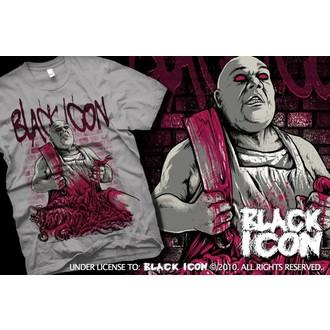 t-shirt hardcore uomo - Grey - BLACK ICON, BLACK ICON