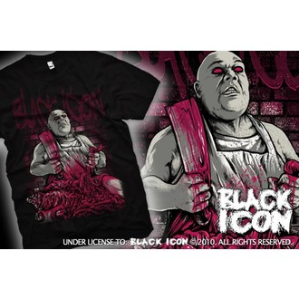 t-shirt hardcore uomo - Black - BLACK ICON, BLACK ICON