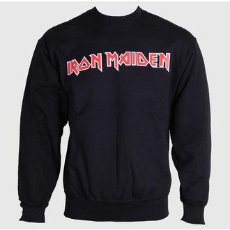felpa con capuccio uomo Iron Maiden - Logo - ROCK OFF, ROCK OFF, Iron Maiden