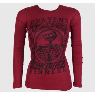 t-shirt hardcore donna - Heaven Sinners Red - SE7EN DEADLY, SE7EN DEADLY