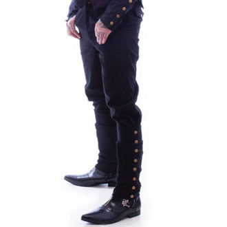 pantaloni uomo NECESSARY EVIL - Chronus Mens Regolabile Steampunk - Nero, NECESSARY EVIL