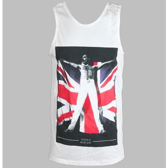 t-shirt uomo Freddie Mercurio - Flag - White - BRAVADO, BRAVADO, Queen