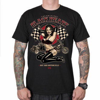 Maglietta da uomo BLACK HEART - PIN UP RACE - NERO, BLACK HEART