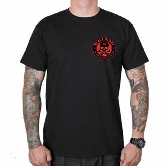 Maglietta da uomo BLACK HEART - RED SKULL - NERO, BLACK HEART
