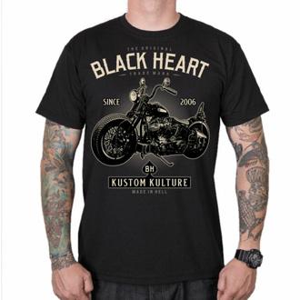 Maglietta da uomo BLACK HEART - MOTOR CYCLE - NERO, BLACK HEART