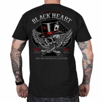 Maglietta da uomo BLACK HEART - HAT SKULL - NERO, BLACK HEART